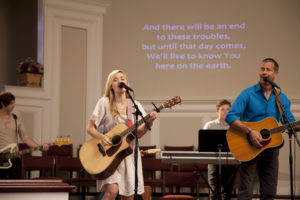 AJ with Dad PErforming In Church